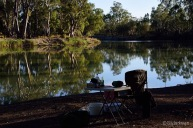 Campsite at Katarapko Creek, Murray River National Park, not far by river to Loxton.
