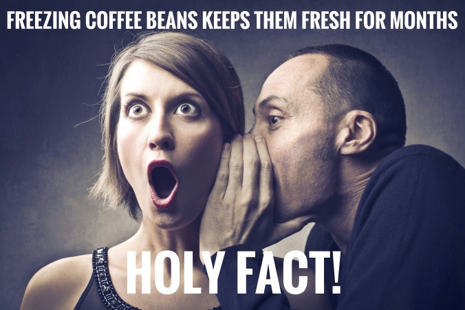 freeze coffee beans to keep them fresh